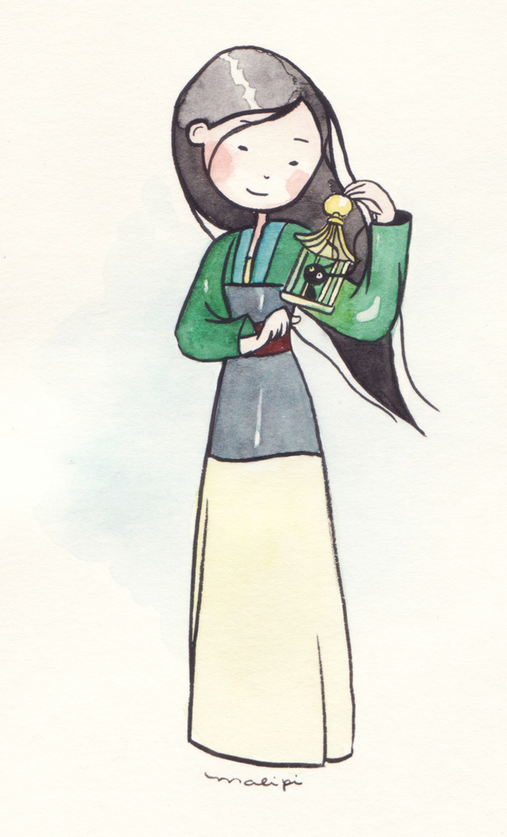 Mulan Ilustração de Mariana Valente