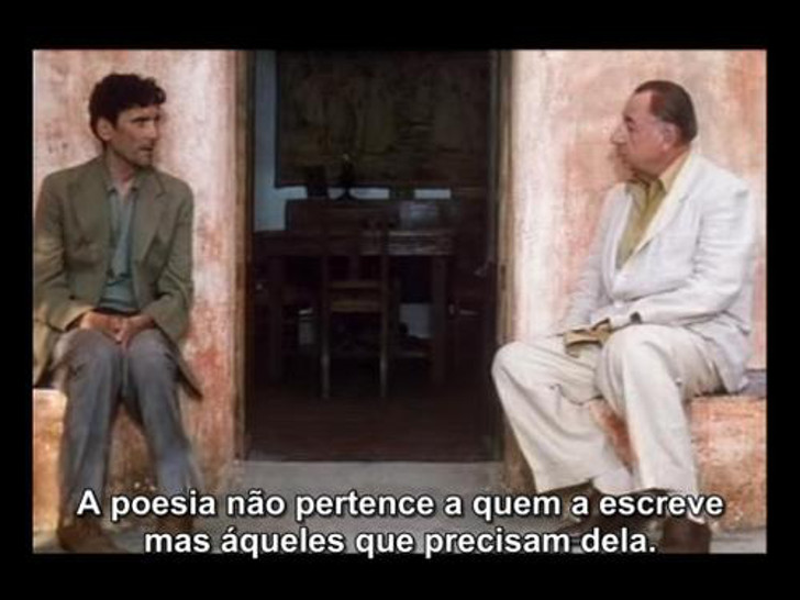 cena do filme O Carteiro e o Poeta