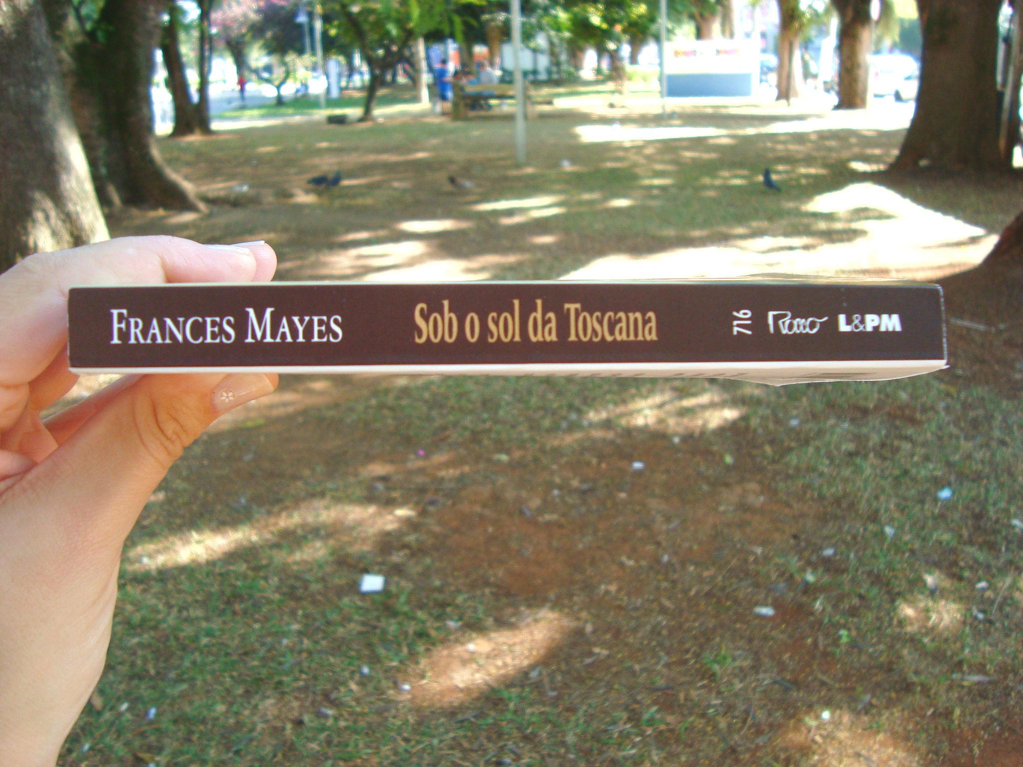 Lombada do livro Sob o sol da Toscana, Frances Mayes