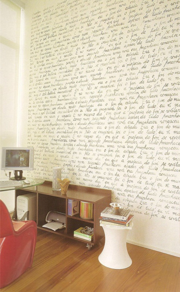 Papel de parede escrito
