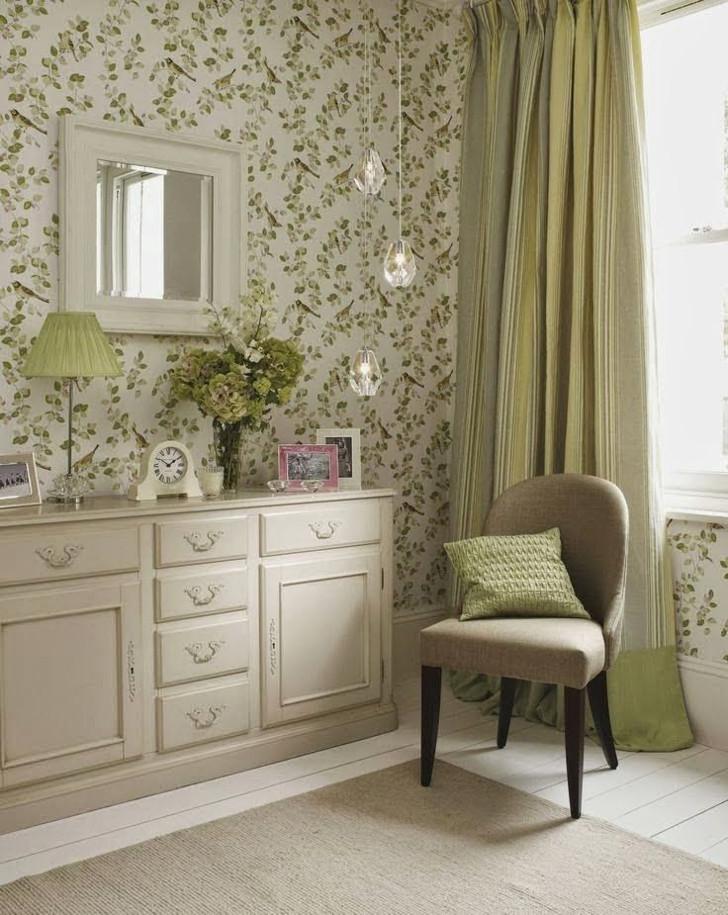 papel de parede com folhas verdes