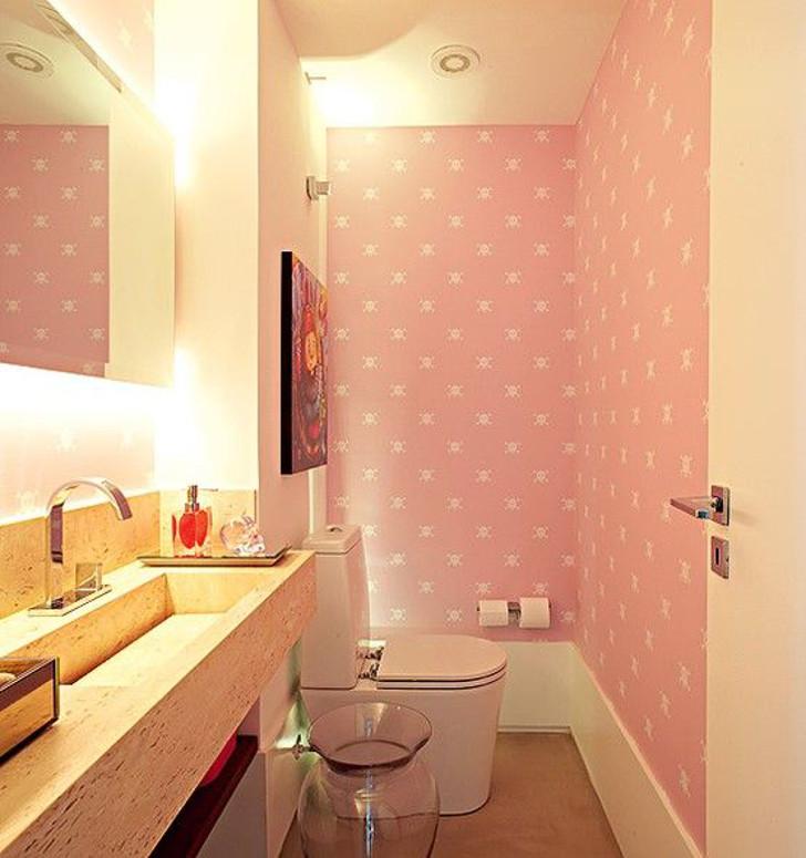 Papel de parede rosa delicado