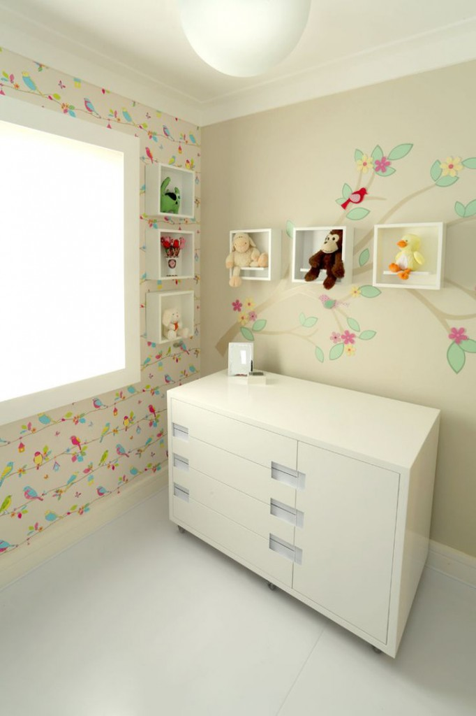 Papel de parede com passarinhos