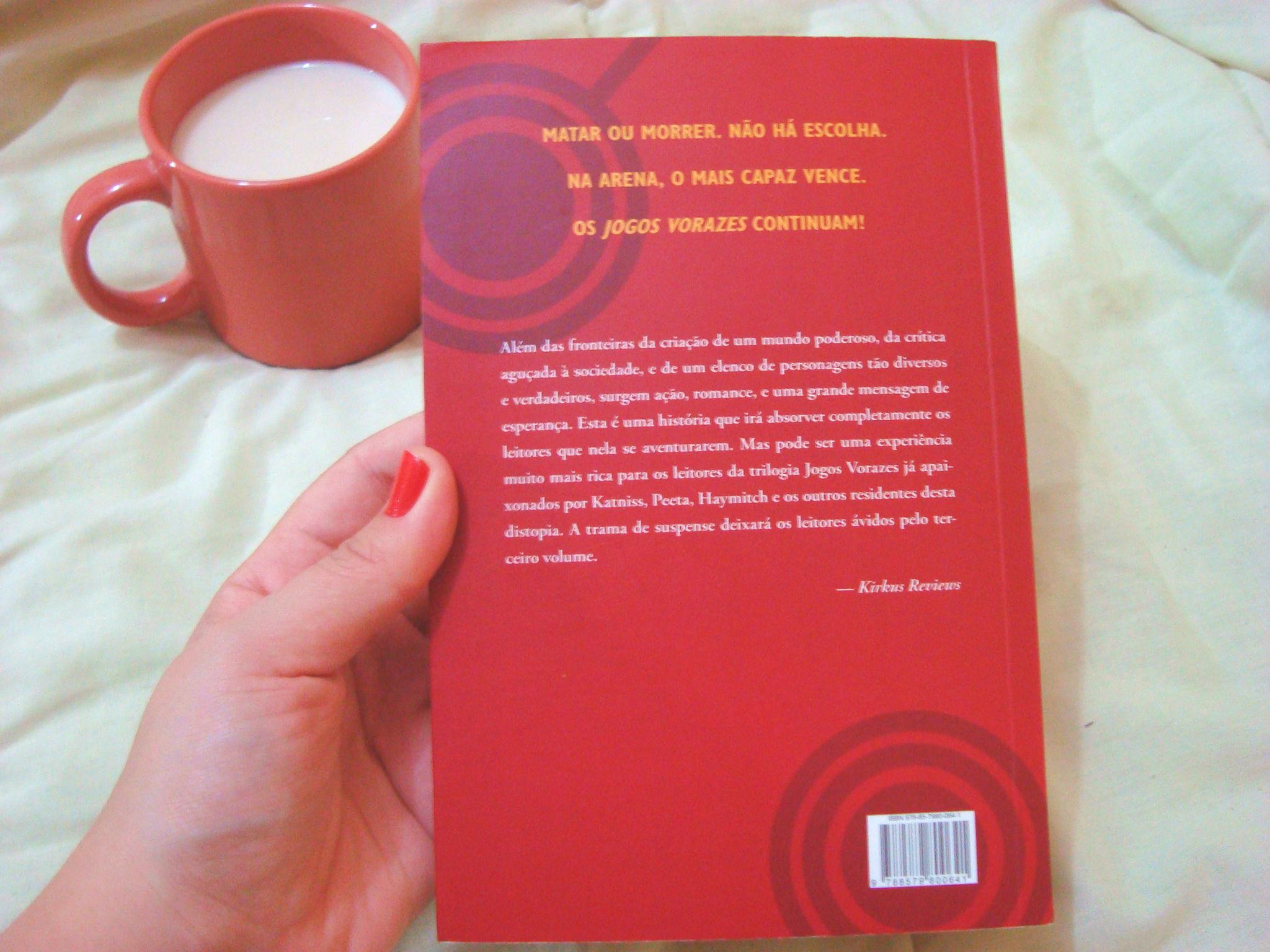 Contra capa do livro Em chamas da série Jogos Vorazes