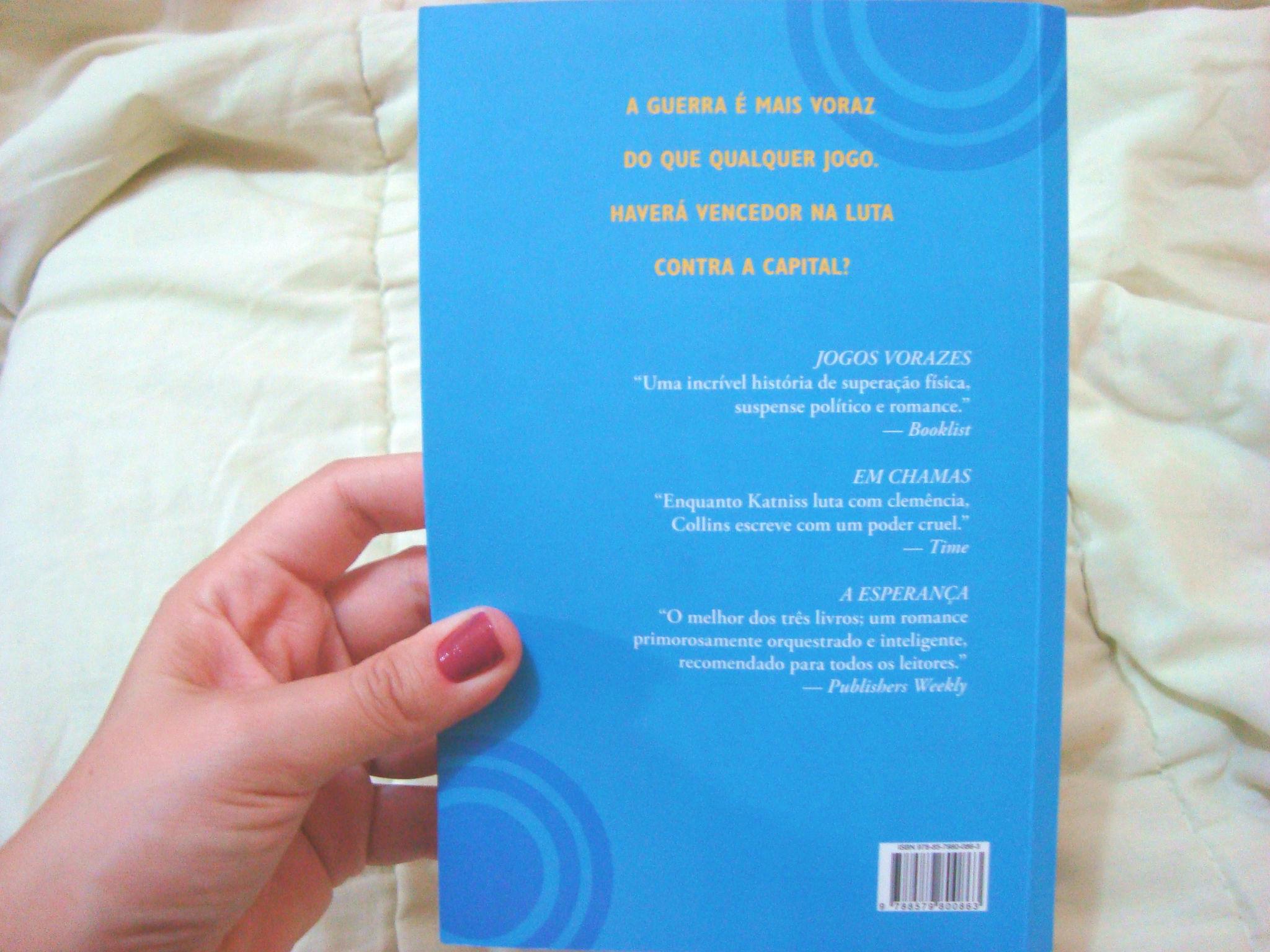 Contra capa do livro A Esperança da série Jogos Vorazes