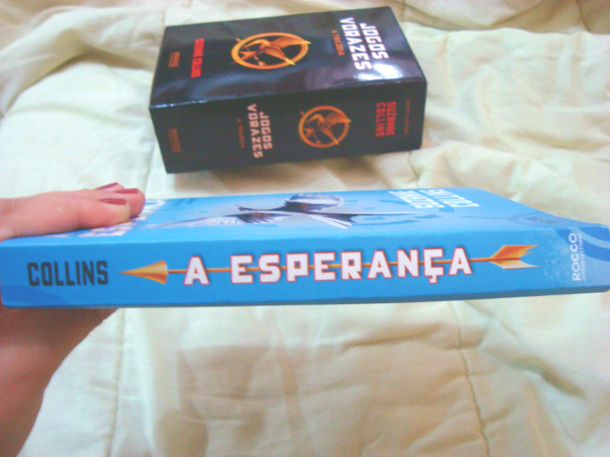 Lombada do livro A esperança da série Jogos Vorazes