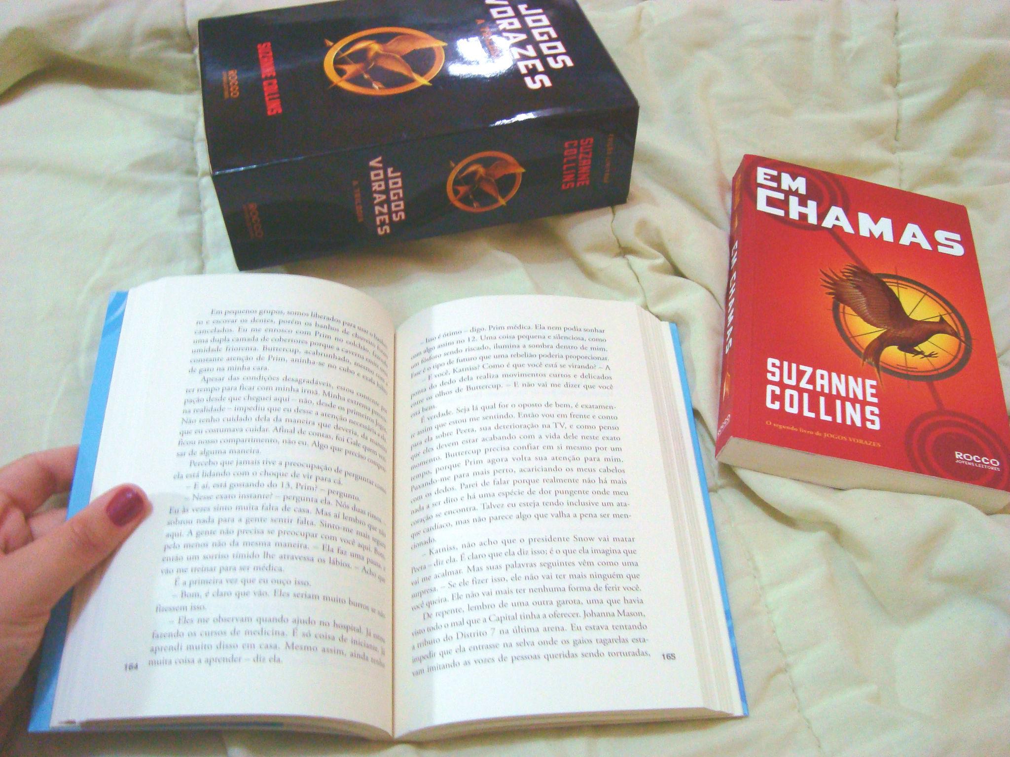 Páginas do livro A Esperança da série Jogos Vorazes