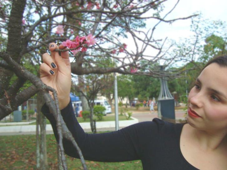 Praça Santa Terezinha, flor no parque