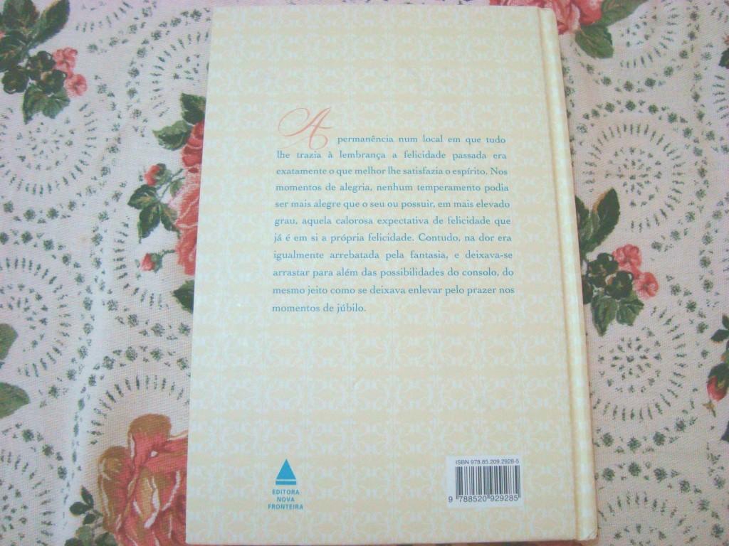 Contra capa do Livro Razão e Sentimento