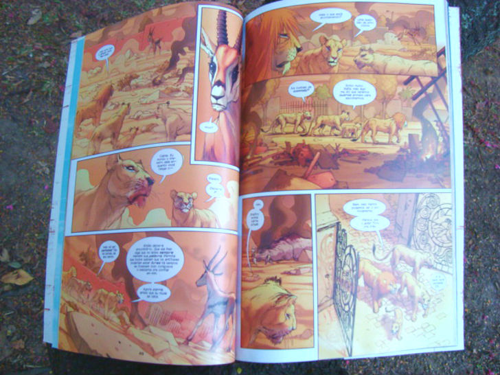 página do livro Os Leões de Bagdá