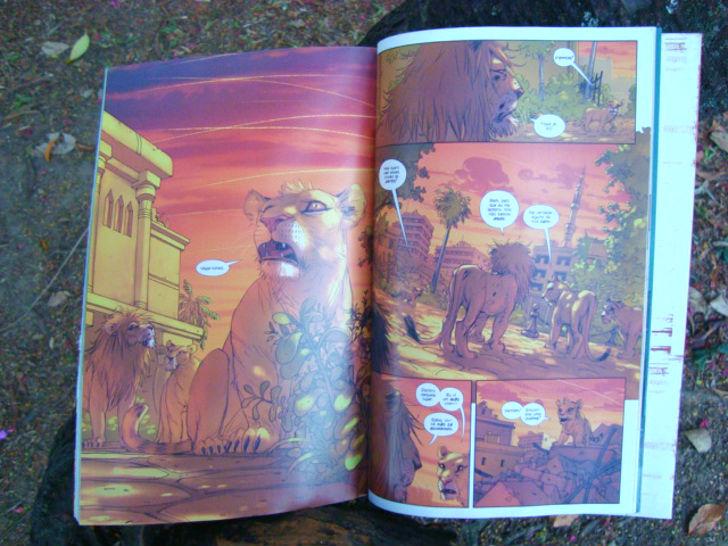 paginas do livro Os leões de Bagdá