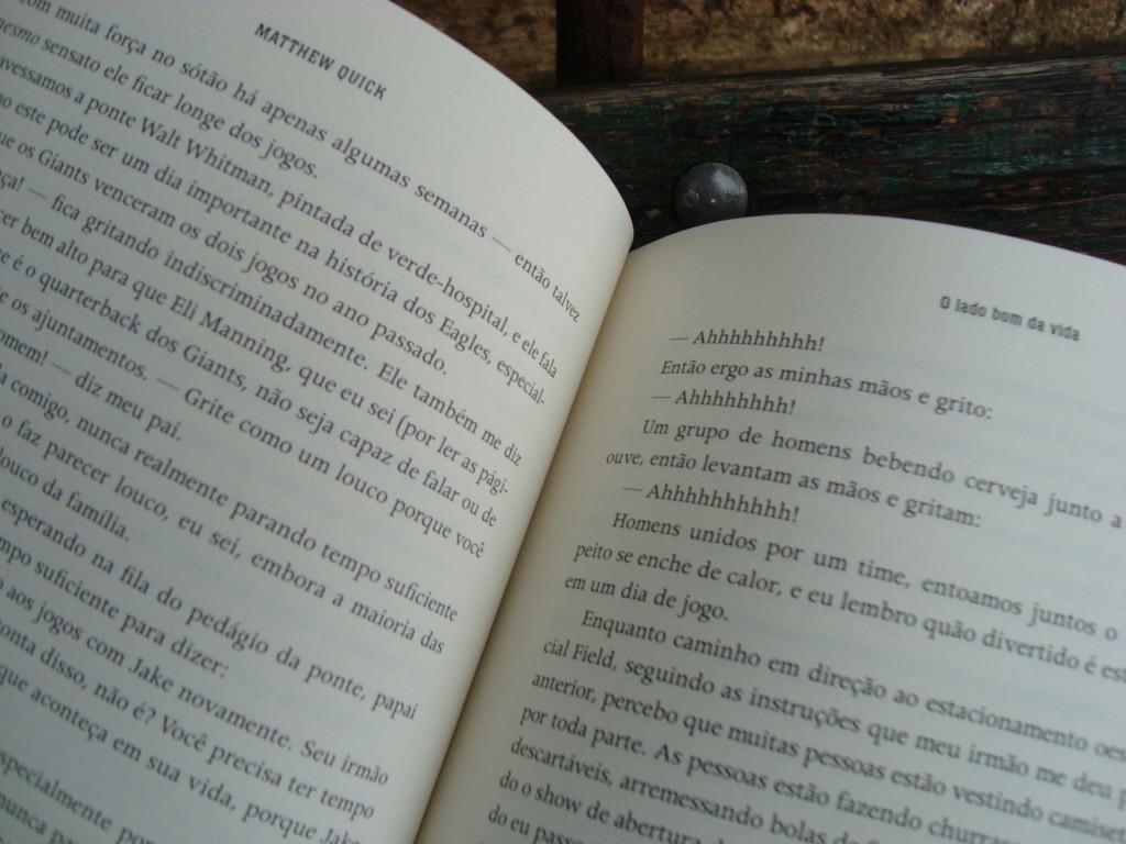 Páginas do livro O lado bom da vida