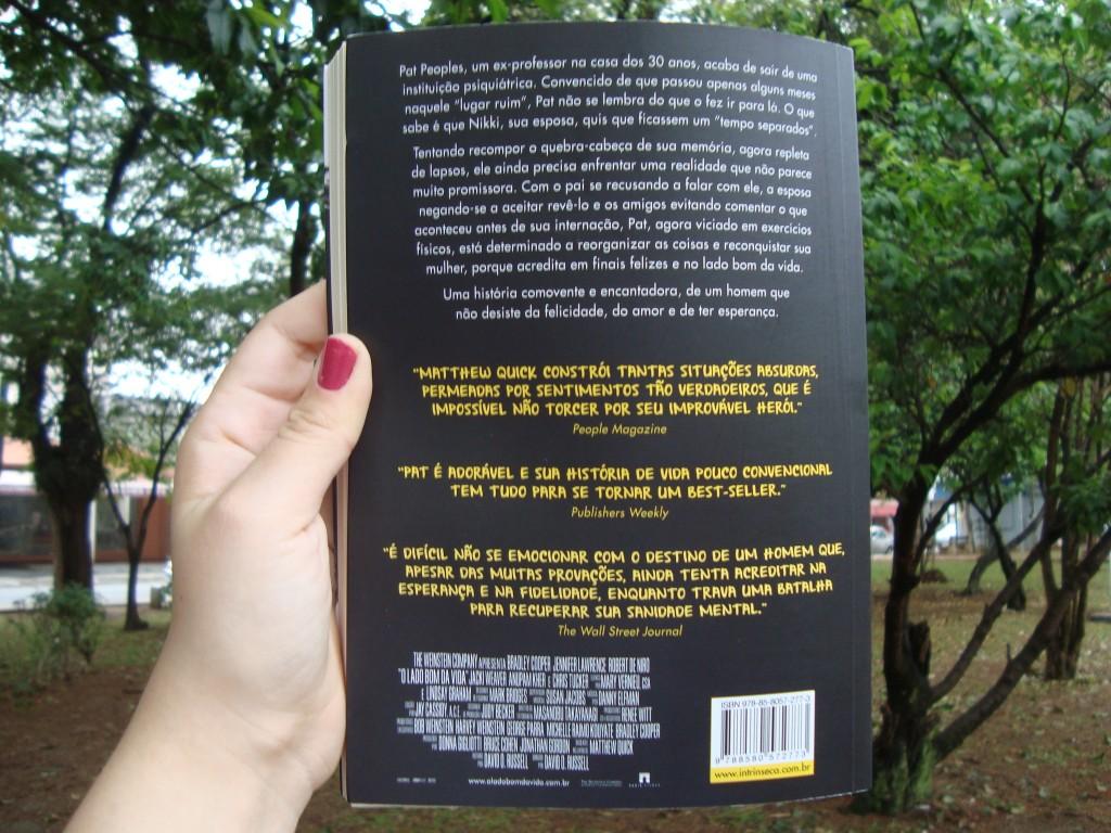 Contra capa do livro O lado bom da vida