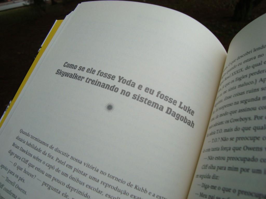 Página do livro O lado bom da vida
