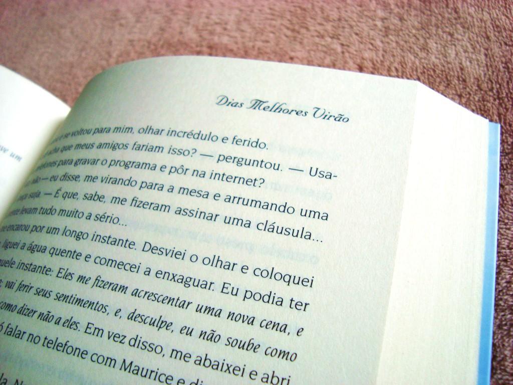 Página do livro Dias melhores virão