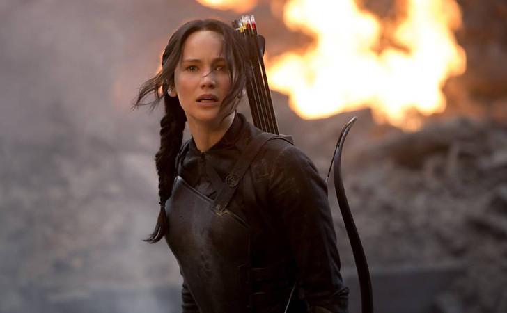 Cena do filme: Jogos Vorazes , A Esperança - Parte 1 - Katniss