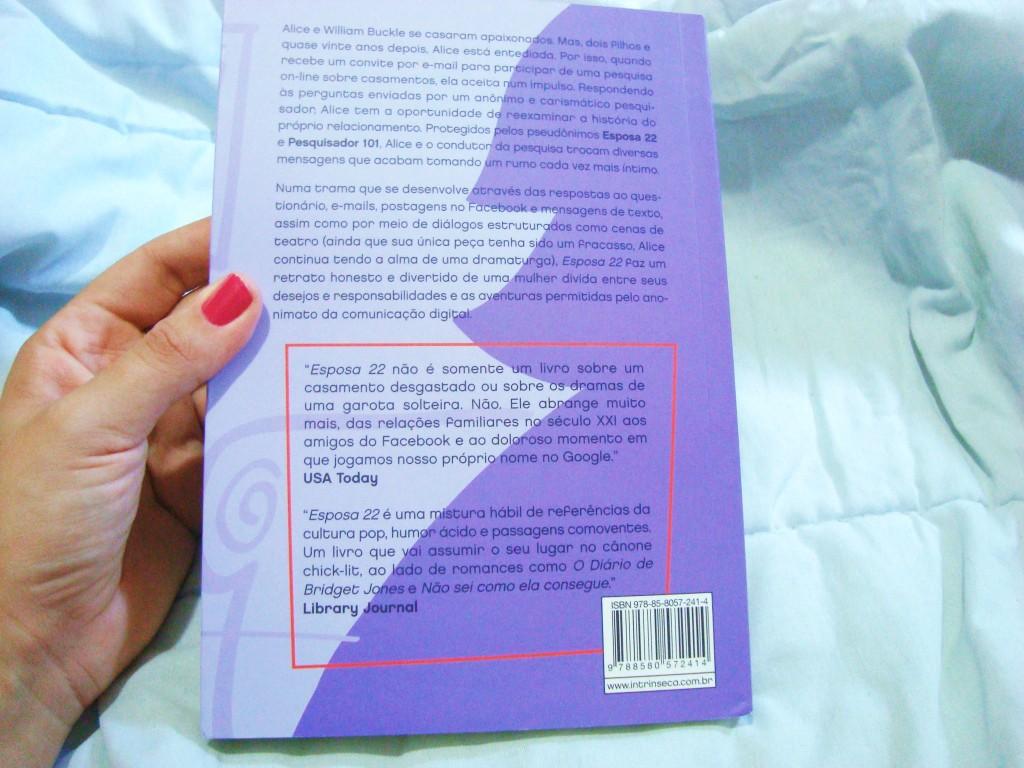 Contra-capa do livro Esposa 22