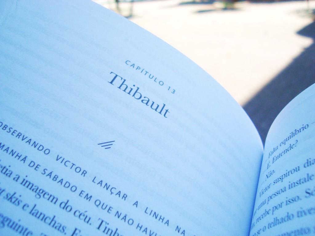 Página do livro Um homem de sorte