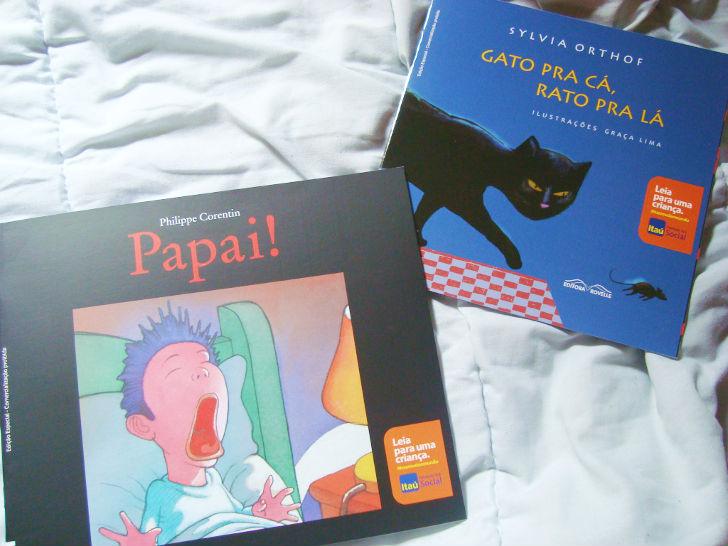 """Livros do projeto ITAU """"Leia para uma criança"""""""