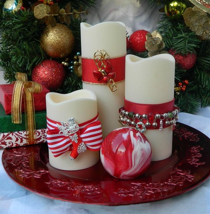 Velas decorativas de Natal 11