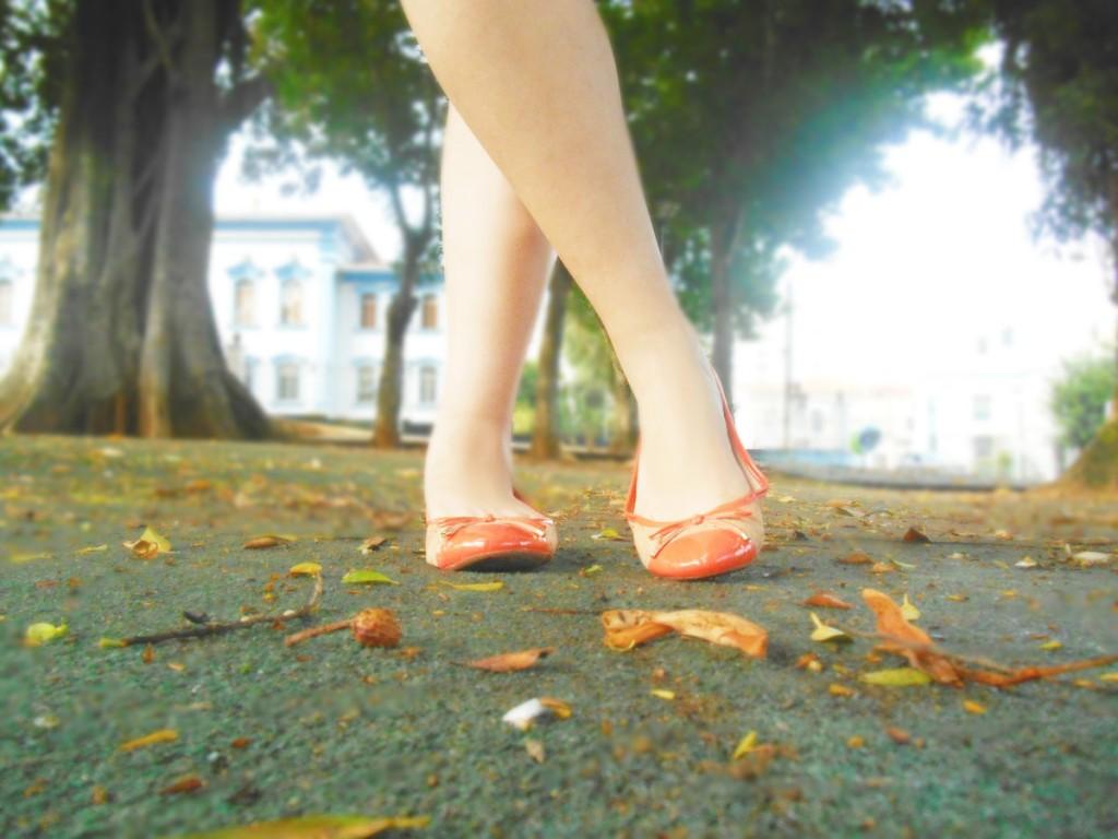 Sapatilha laranja, sonho dos pés