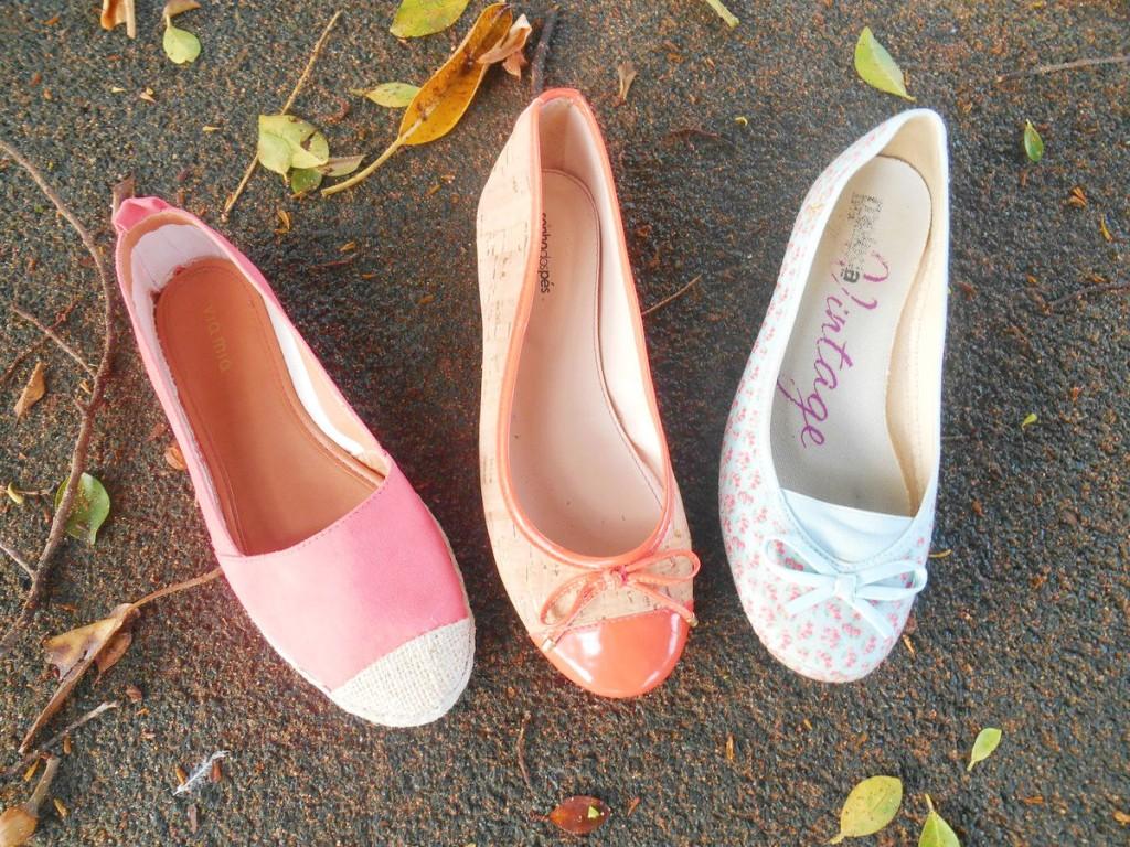 Sapatilhas para o verão, sapatilhas via mia, sapatilhas moleca e sapatilhas sonhos dos pés