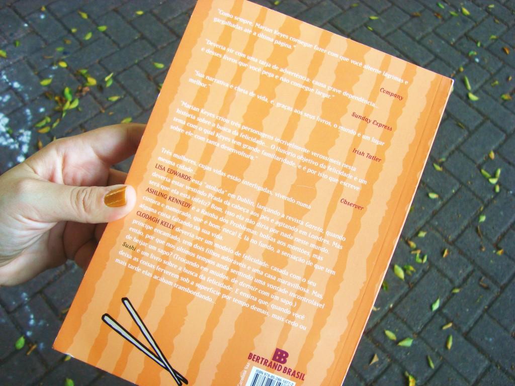 contra-capa do livro Sushi - Marian Keyes