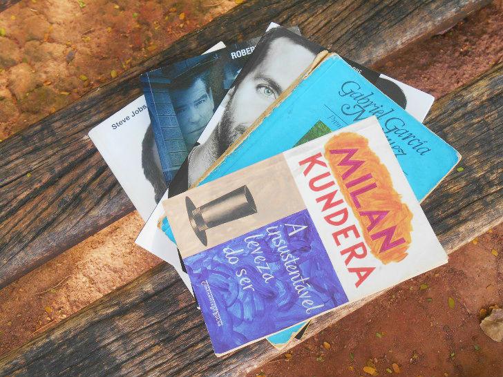"""Lista de livros de drama, romance e ficção: O amor nos tempos do cólera; A insustentável leveza do ser; O lado bom da vida; O fantasma; Biografia de Steve Jobs por Walter Isaacson"""""""