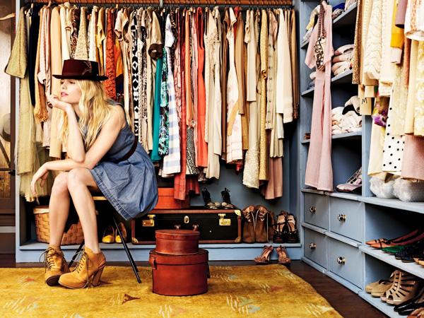 organização do guarda-roupas
