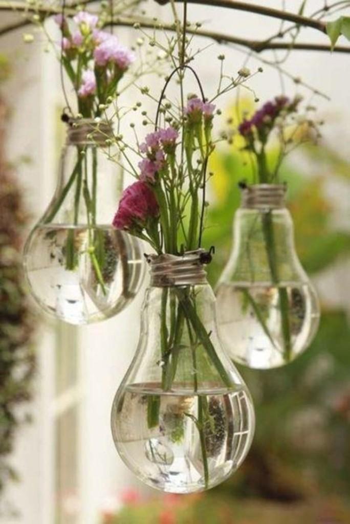 enfeite de lâmpada para flores, vaso de flores