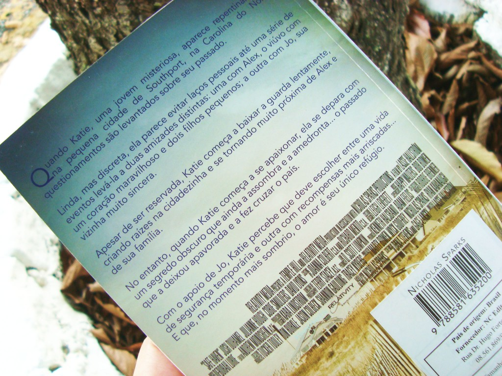 contra-capa do livro Um porto seguro