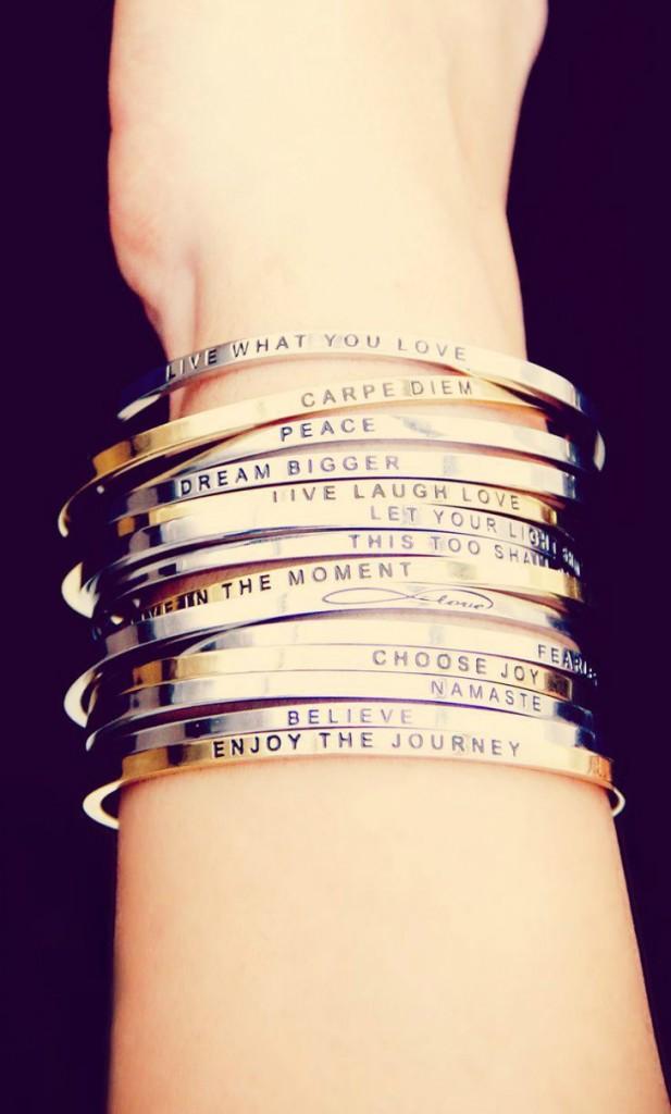 pulseiras com mensagens