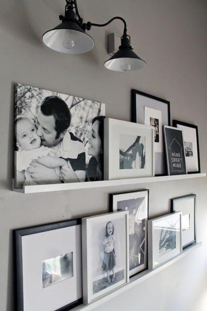 porta-retrato preto e branco
