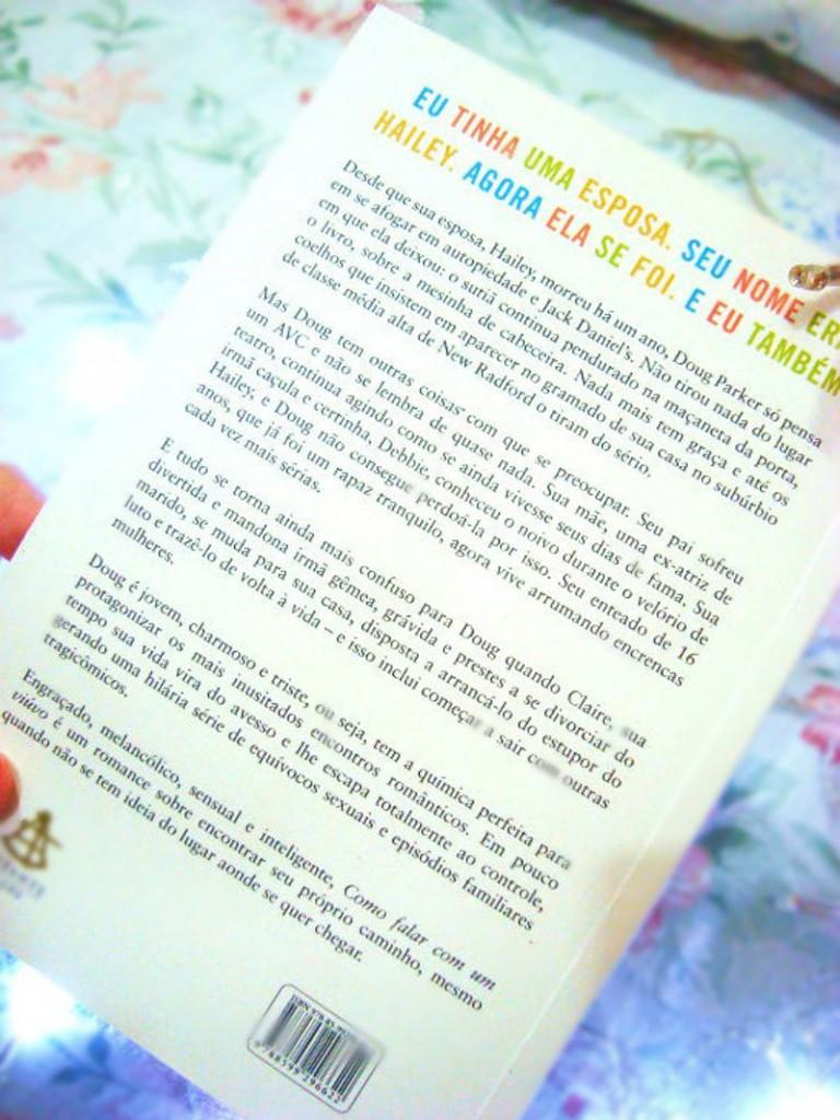 contra-capa do livro: como falar com um viúvo