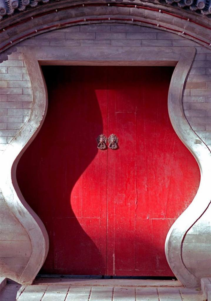 porta vermelha  diferente