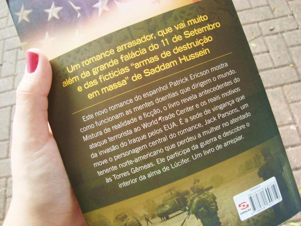 contra-capa do livro Anoitece no Iraque - Projeto Brainwashing