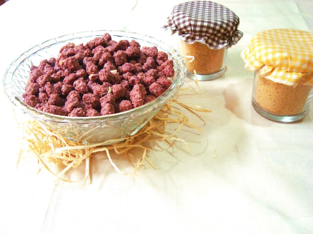 paçoca e amendoim doce