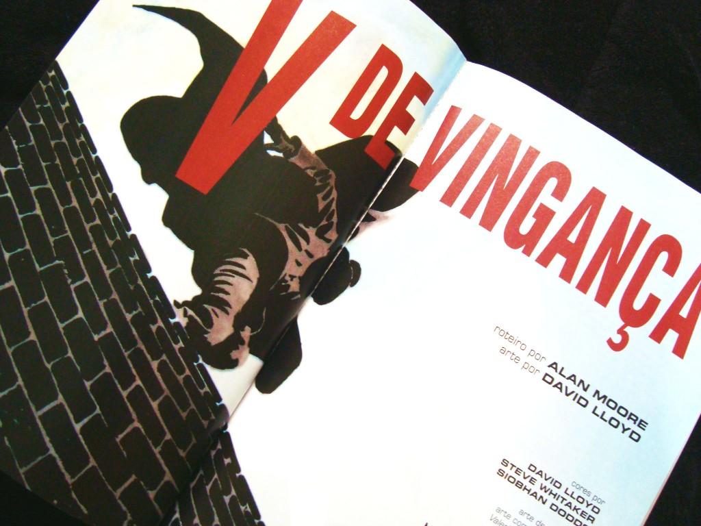 página do livro V de vingança