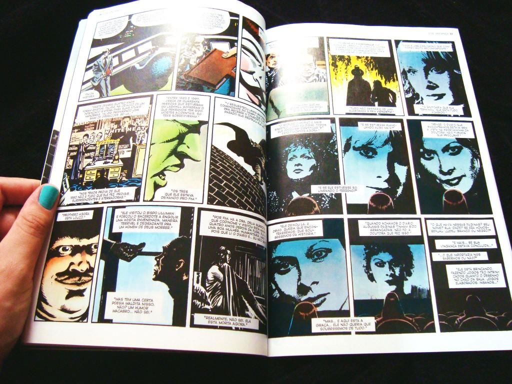 páginas da HQ V de vingança