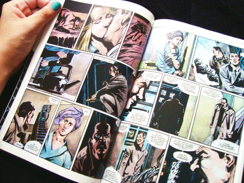 """páginas da HQ """"V de vingança"""""""