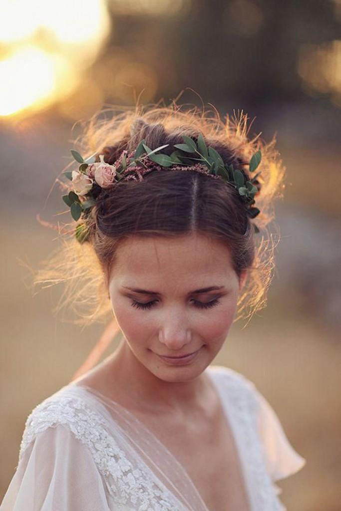 coroa de flores para cabelo/noiva