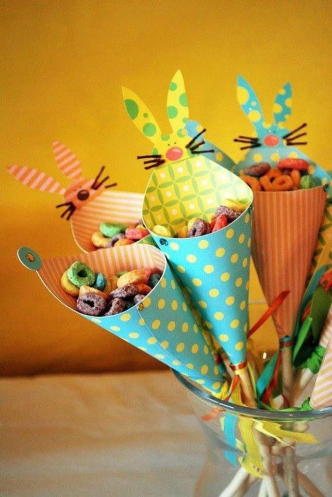 cones para decoração de páscoa