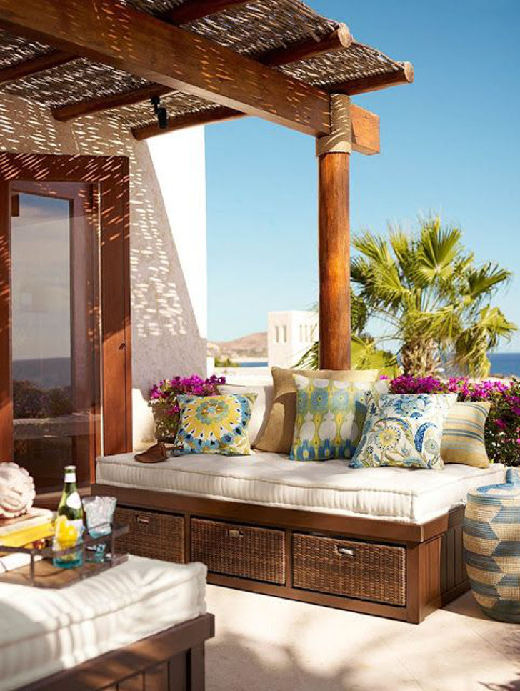 decoração para cobertura/terraço
