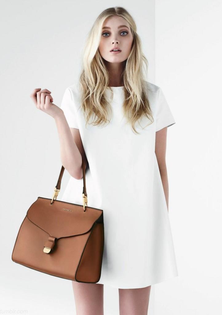 look com vestido branco, look clean