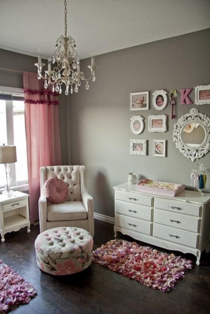 decoração rosa/vintage