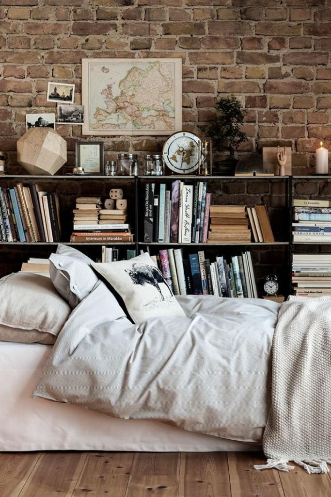 quarto com decoração rústica