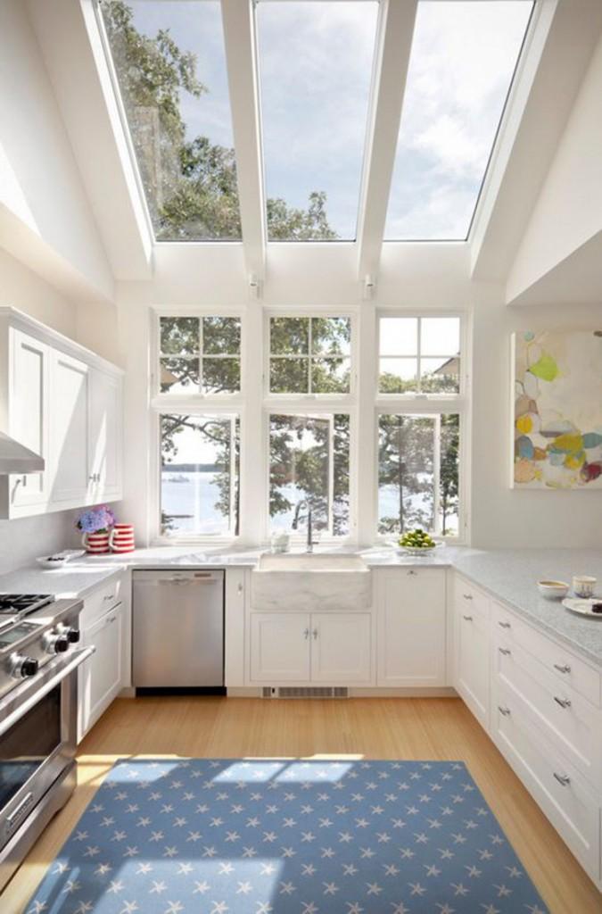 cozinha com teto de vidro