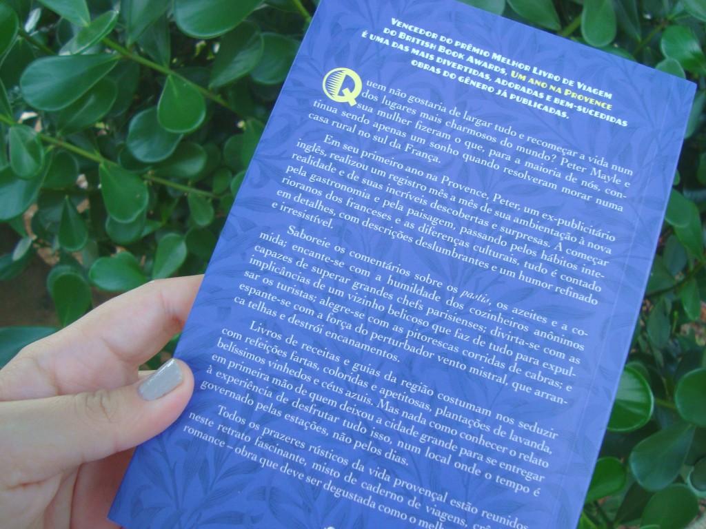 """contra-capa do livro """"Um ano na Provence"""""""