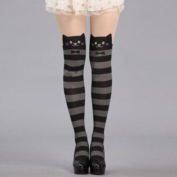 meia-calça de gatinho