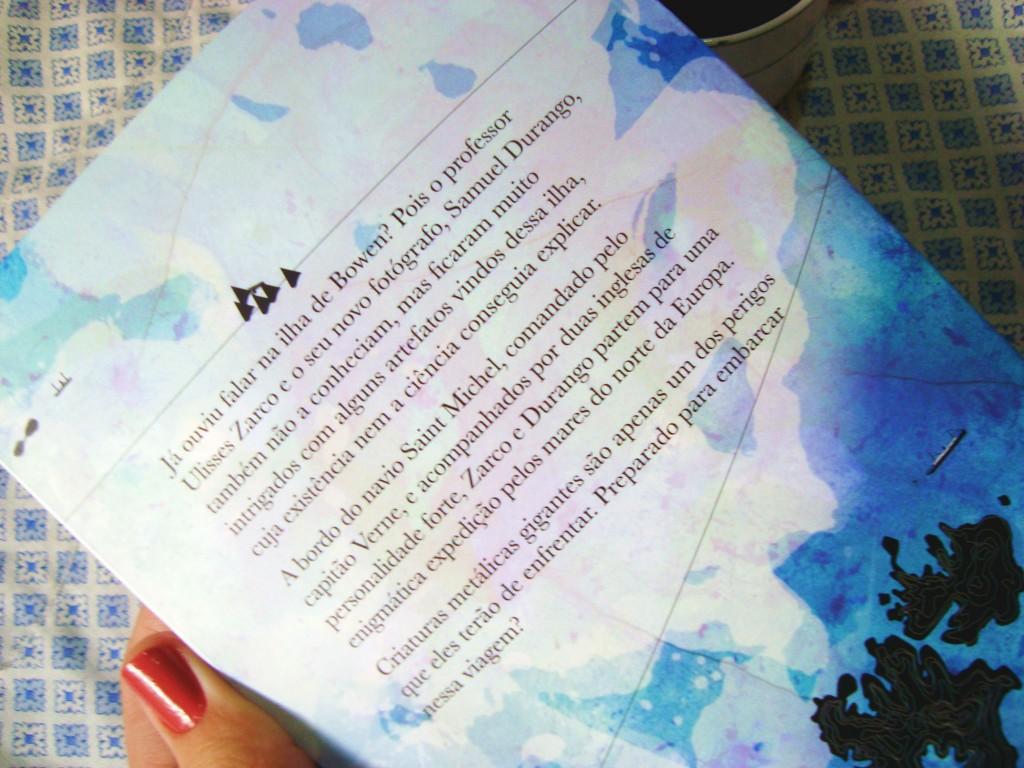 contra capa do livro A ilha de Bowen - Editora Biruta